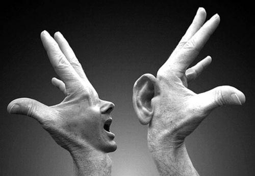 Mano boca y orejas